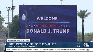 'Free speech' area designated at President Trump's rally in Phoenix