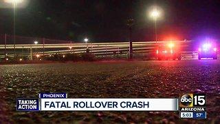 Driver arrested after fatal rollover crash