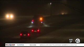 Michigan State Police warn people to only travel if necessary during winter storm