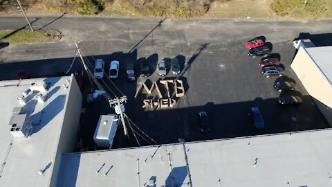 Aerial View: MTB Shed