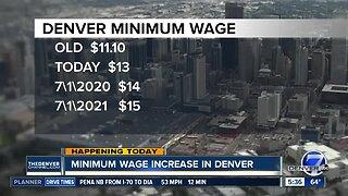 Minimum wage increase in Denver