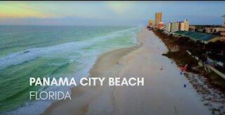 Panama City Beach Florida Flyover Sunrise Sunset