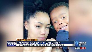 Mother Killed in 5 car crash