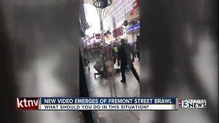 Multiple people arrested, officer injured after brawl on Fremont St.