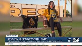 Former Marcos De Niza football kicker Krysten Muir faces new challenge