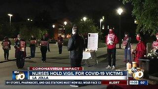 Nurses hold vigil for COVID-19 patients