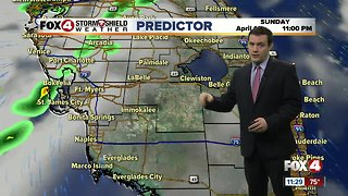 FORECAST: For your Sunday expect mainly inland rain areas during the afternoon with highs in the 80's