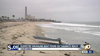 Panga washes ashore in Carlsbad