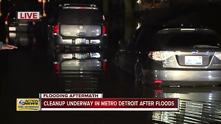 Southfield Freeway still flooded near Outer Drive in Dearborn Heights