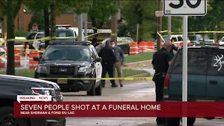 7 people injured during drive-by shooting at Milwaukee funeral home