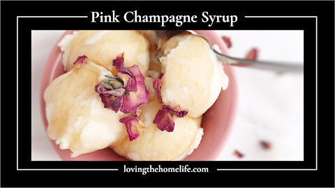 Pink Champagne Syrup