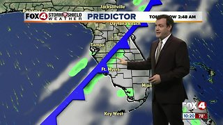 Forecast: A cold front will move through overnight with a sunny Monday afternoon ahead