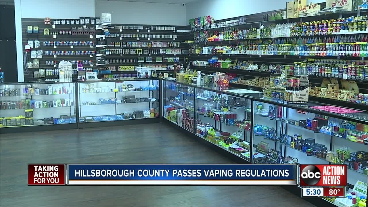 Hillsborough County leaders vote unanimously to raise vaping age limit to 21