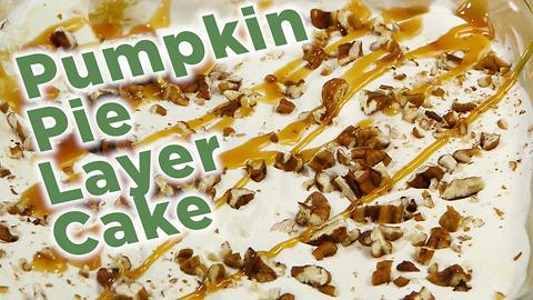 Pumpkin pie layer cake