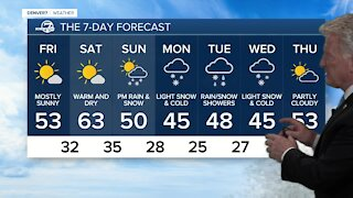 More melting across Colorado today and tomorrow, next storm comes this weekend