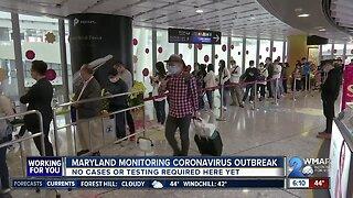 Maryland monitoring for coronavirus outbreak