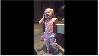 Hilarious Toddler Pretends To Talk On The Phone