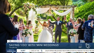 Mini weddings allowing couples to marry during the pandemic