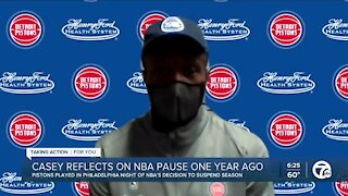 One year later: Dwane Casey reflects on NBA pause