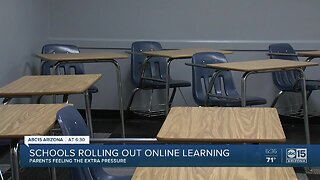 Parents feeling the pressure as schools roll out virtual learning