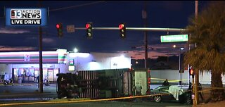Fatal crash closes Tropicana Avenue