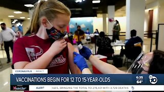 Vaccinations begin for children age 12-15