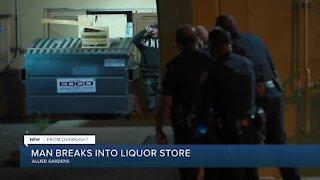 Man arrested in break-in at Allied Gardens liquor store