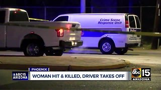 Woman struck and killed by hit-and-run driver in Phoenix
