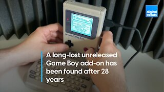 Long lost Game Boy accessory found nearly 30 years later