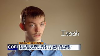 Grant Me Hope: Isaiah likes playing outside, drawing, and watching movies