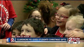 Claremore pd gives students christmas gifts