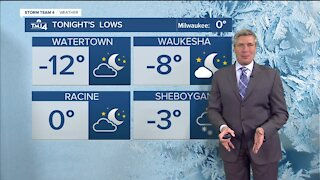 Temps drop to around zero in Milwaukee Wednesday evening