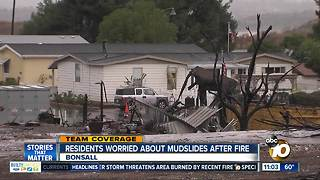 Lilac Fire-area residents concerned about mudslides