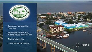 Beaches and parks on Fort Myers Beach will reopen Saturday
