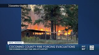 Fire in Coconino County causes evacuations