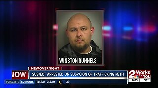 Suspect arrested on suspicion of trafficking meth