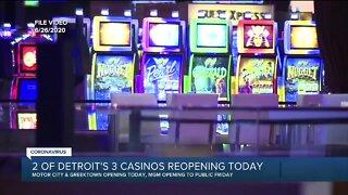 2 of Detroit's 3 casinos reopen