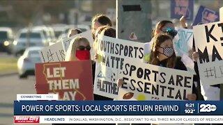 Power of Sports: Rewind on local sports return following the shutdown