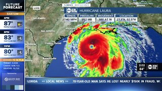 Laura becomes an extremely dangerous Cat 4 storm