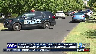 Homeowner arrested in deadly Pasadena shooting