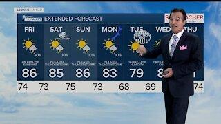 Latest Weather Forecast 3 p.m. Thursday