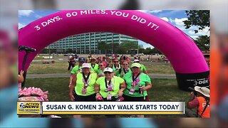 Susan G. Komen 3-day walk starts today