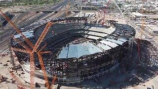 Drone video of Las Vegas Stadium