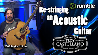 Learn To Restring An Acoustic Guitar