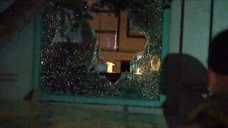 Aurora protest turns violent, set fire inside courthouse