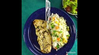 Fish with garlic