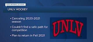 UNLV Rebel Hockey's season canceled amid a continuing pandemic