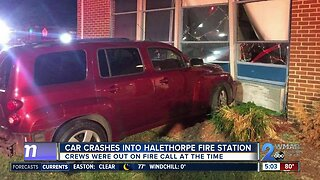Car crashes into Halethorpe Fire Station