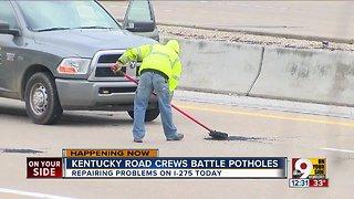 Kentucky road crews battle potholes
