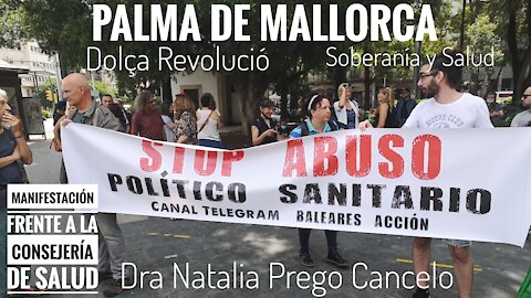 Manifestación Frente a la Consejería de Salud Palma de Mallorca
